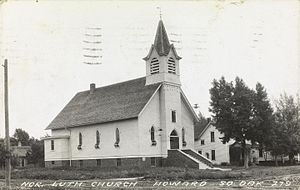 Howard, South Dakota - Norwegian Lutheran Church in Howard.
