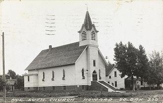 Howard, South Dakota - Norwegian Lutheran Church in Howard.