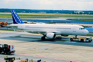 Armavia Flight 967 - The aircraft involved in the accident in Armavia's old livery, seen here in 2004