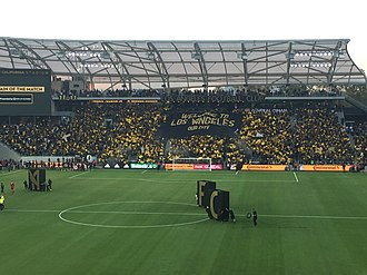 Los Angeles FC - The 3252 section unveil a tifo before the second El Tráfico