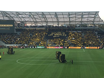 The 3252 section unveil a tifo before the second El Trafico 3252 LAFC Supporter's section.jpg