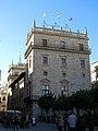 326 Palau de la Generalitat (València), torre antiga, des de la plaça de la Mare de Déu.jpg