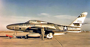 38th Tactical Reconnaissance Squadron - 38th TRS RF-84F-25-RE Thunderflash - 51-17011 in 1955