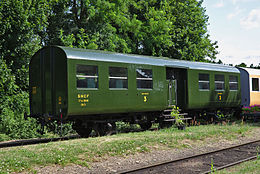 Voiture C6tm du train Thur Doller Alsace.