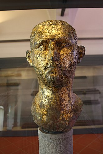 Probus (emperor) - Sculpted head of Probus from Brescia in northern Italy.