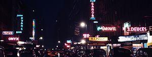 Jimmy Ryan's - Image: 52nd Street, New York, by Gottlieb, 1948 crop