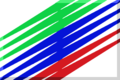 600px White with green blue red diagonal stripes.png