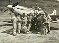 84 Squadron RAAF Mustang pilots Ross River Qld July 1945 AWM NEA0710.jpg