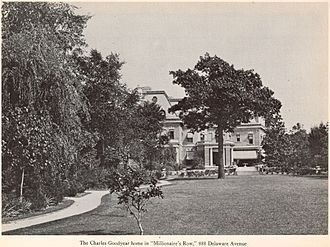Charles W. Goodyear House - The Charles W. Goodyear home at 888 Delaware Avenue in Buffalo