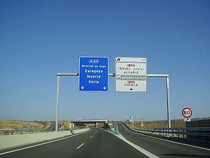 Autovía A-23 - Image: A 23 TERUEL
