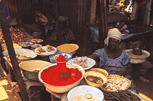 Condiment - Various condiments at Sangha market, Mali 1992