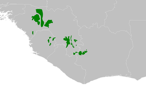 Guinean montane forests - Image: AT0114 map