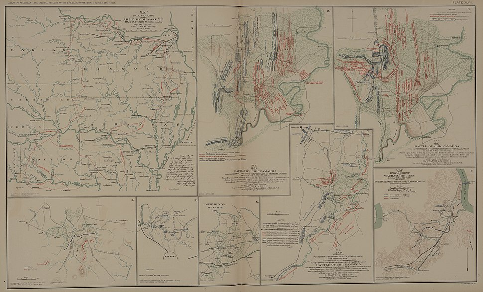 ATLAS OR BATTLE OF CHICKAMAUGA 1 Map