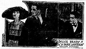 A Dark Lantern - Publicity photo from a contemporary newspaper.