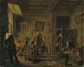 A Painter's Studio (Jan Josef I Horemans) - Nationalmuseum - 17290.tif