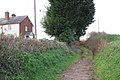 A green lane heads north past Cofford Cottages - geograph.org.uk - 1623743.jpg