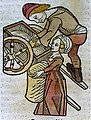 A man and a woman loading a cart, woodcut,1547 Wellcome L0029229.jpg