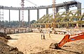 A view of construction work of the SPM Swimming Pool Complex at Talkatora Stadium, in New Delhi on October 26, 2009.jpg