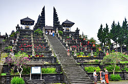 A view of entrance stairs to Pura Besakih Hindu Temple Bali Indonesia.jpg