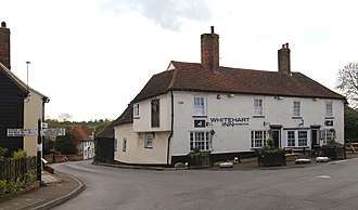 Moreton, Essex - Image: A view of the White Hart Inn from the Nags Head public house on Church Road, Moreton village, Essex, England