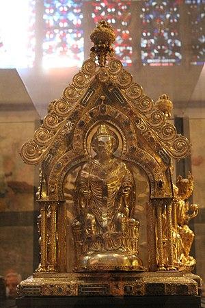Marienschrein - Image: Aachen marienschrein papst leo III
