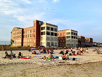 Jacob Riis Park - Neponsit Beach Hospital (pictured) was opened in 1915 on Riis Park land, prior to major park development