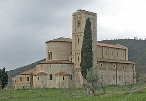 Abbey of Sant'Antimo - Abbey of Sant'Antimo, apse view.