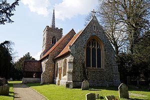 Abbess Roding - Image: Abbess Roding St Edmund's Church Essex England church from southeast