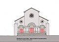 Abteikirch St-Gilles Rekonstruktion Fassade.JPG