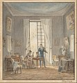 Achille-Louis Martinet - Salon Interior with Gabriel d'Arjuzon Playing the Violin and Pascalie Hosten, Comtess d'Arjuzon, Pla... - Google Art Project.jpg