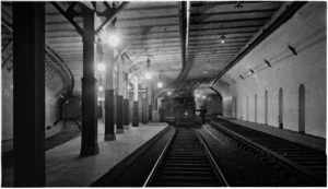 Adams Square (BERy station) - Adams Square station in 1897