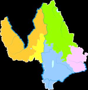 Lijiang - Image: Administrative Division Lijiang
