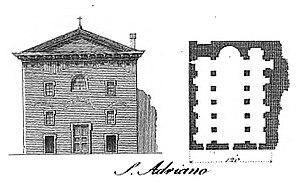 Sant'Adriano al Foro - Plan of S. Adriano