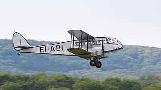 "De Havilland Dragon - A DH.84 Dragon, repainted in the livery of Aer Lingus' original aircraft ""Iolar""."