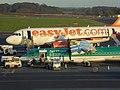 Aer Lingus Regional (EI-FCY) & EasyJet (G-EZFU), Newcastle Airport, October 2014 (03).JPG