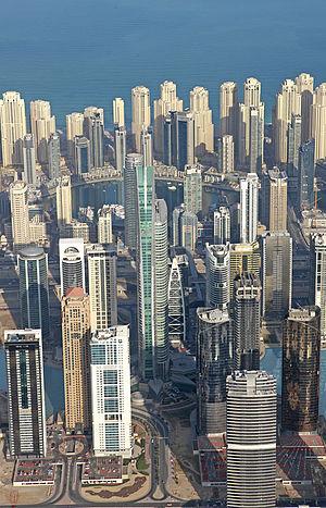 Dubai Multi Commodities Centre - Aerial View of JLT Free Zone