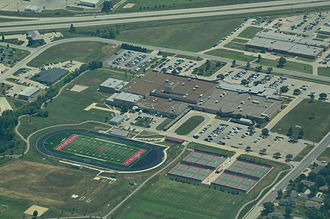Emporia High School - Image: Aerial view of Emporia High School, Emporia, Kansas 09 04 2013