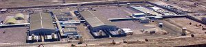 Parwan Detention Facility - Aerial view of the Parwan Detention Facility during its completion in 2009.