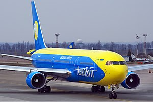 Aerosvit Airlines - An Aerosvit Boeing 767 at Kiev's Boryspil International Airport (2011)
