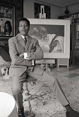 Afewerk Tekle - Tekle in his studio in Addis Ababa, Ethiopia, 1965