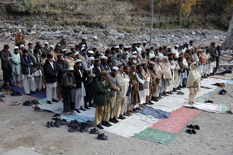File:Afghan men praying in Kunar-2009.jpg