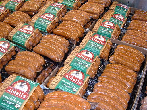 Aidells Italian Style sausages at Costco, SSF ECR