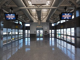 AirTrain JFK - Terminal 5 station interior