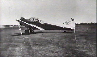 Airspeed Courier - Airspeed Courier A5.5 G-ACJL, pictured on 1934 MacRobertson England - Australia Air Race