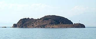 Akdamar Island - Akdamar Island seen from the south shore of Lake Van, near the town of Gevaş