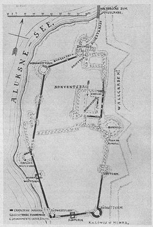 Alūksne Castle - Image: Alūksne Castle plan