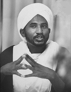 Sadiq al-Mahdi Prime Minister of Sudan, 1966-67 and 1986-89