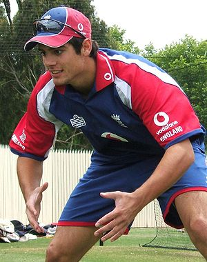 Alastair Cook - Cook in catching practice during the 2006–07 Ashes tour