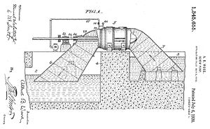 A. Baldwin Wood - Patent diagram for Wood Screw Pump (page 1)