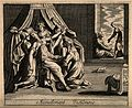 Alcmene giving birth to Hercules; Juno, jealous of the child Wellcome V0014906.jpg